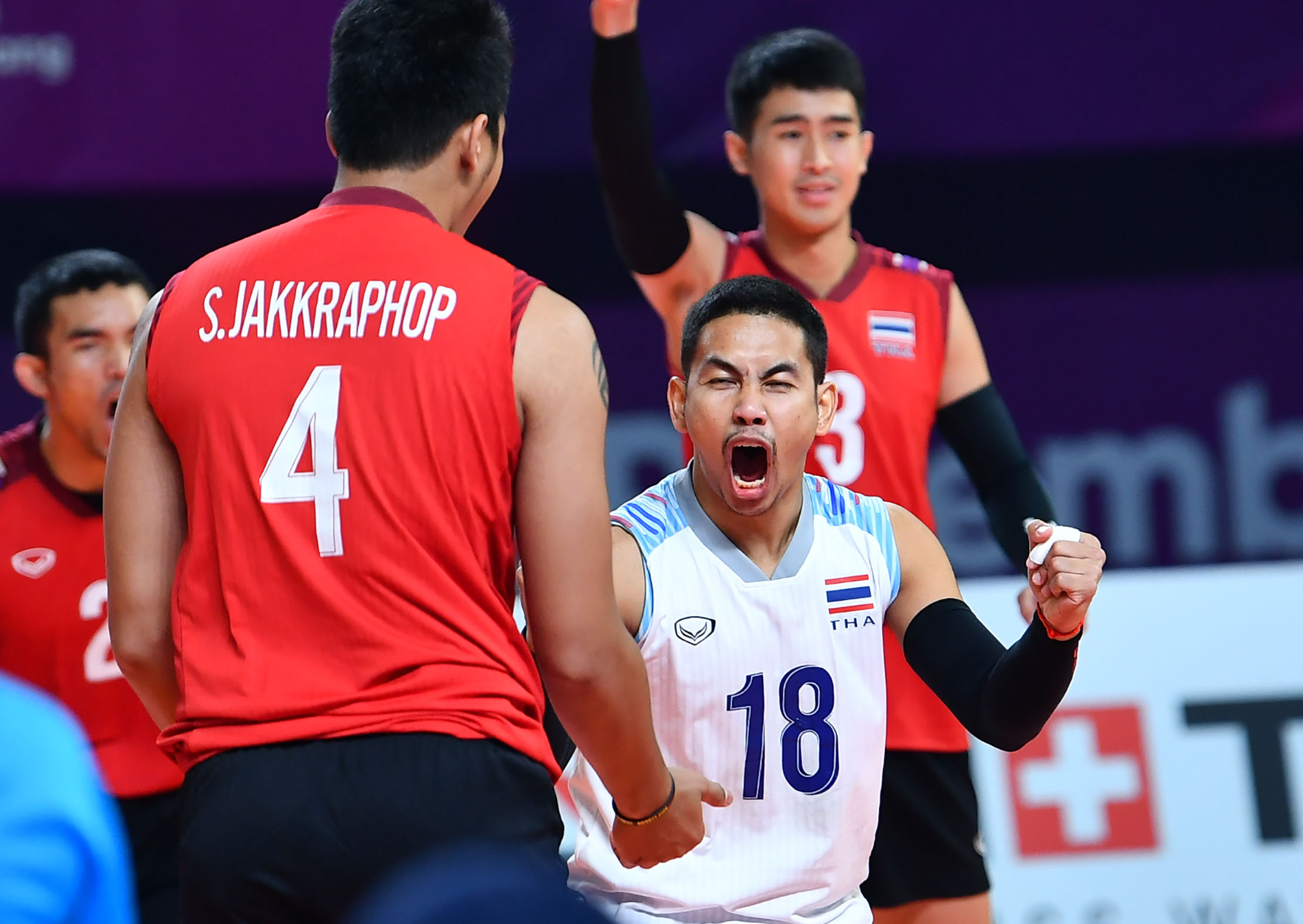 หนุ่มไทยชนะเมียนมาร์ 3-1 เซต เข้ารอบจัดอันดับ7-10 เอเชียนเกมส์2018 –  ยินดีต้อนรับเข้าสู่เว็บไซต์สมาคมกีฬาวอลเลย์บอลแห่งประเทศไทย